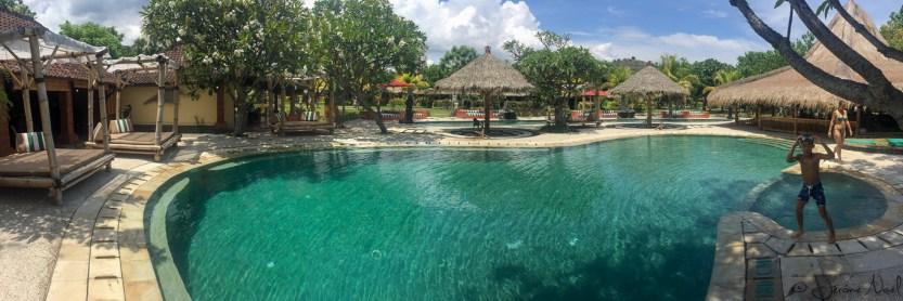 Taman Sari - panorama piscine
