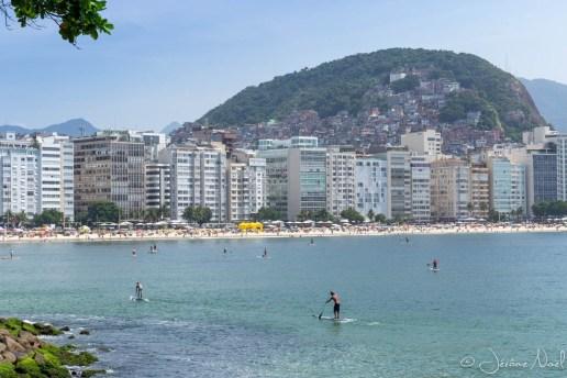 Favelas derrière Copacabana