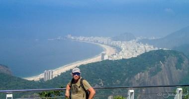Jérôme et vue sur la baie de Copacabana