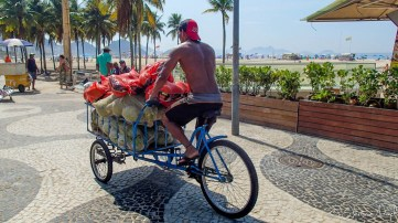 Vélo sur Copacabana