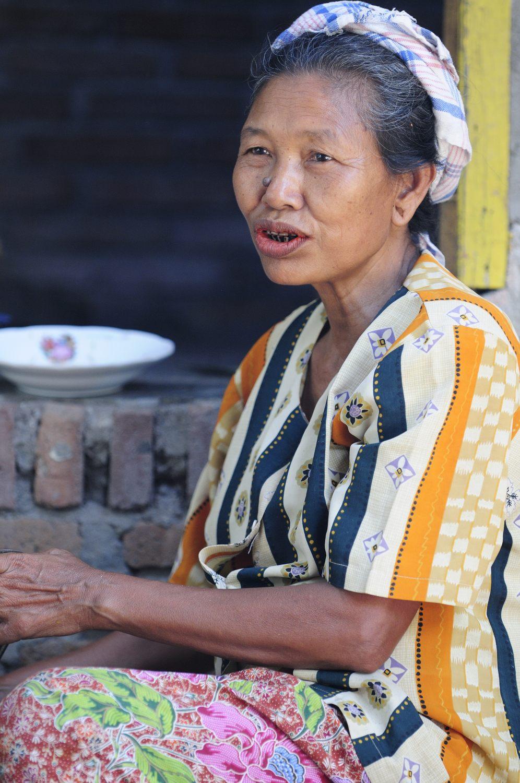 Le village de Jonggat, Lombok, Indonésie