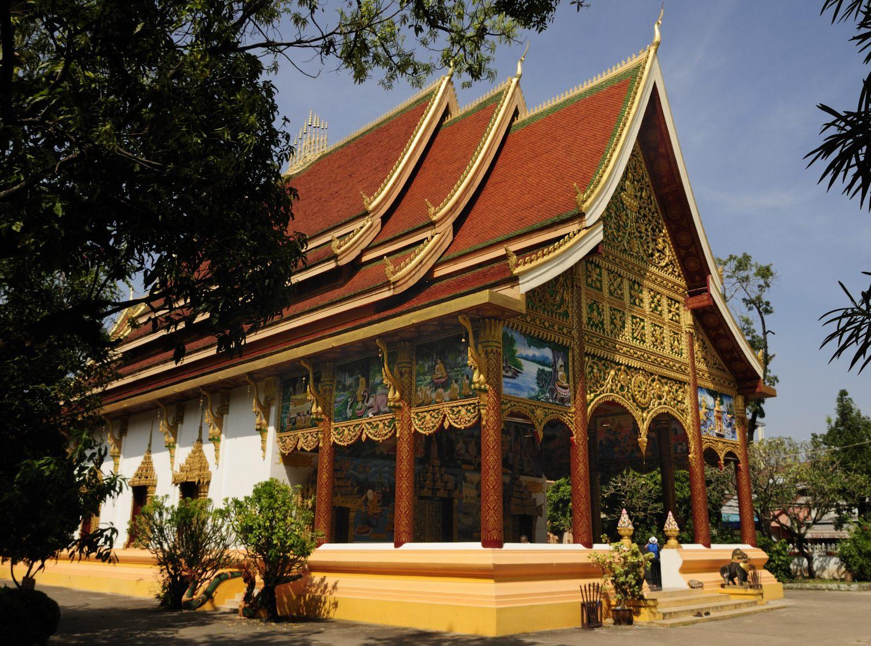 Temple Wat In Peng, Vientiane, Laos