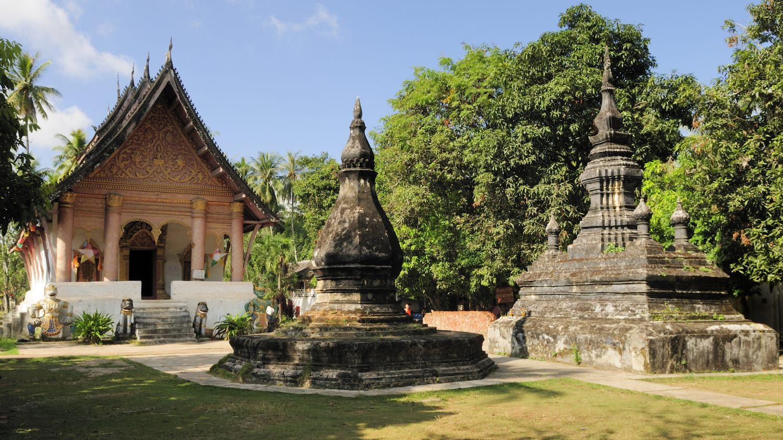 Temple Wat Aham, Luang Prabang, Laos