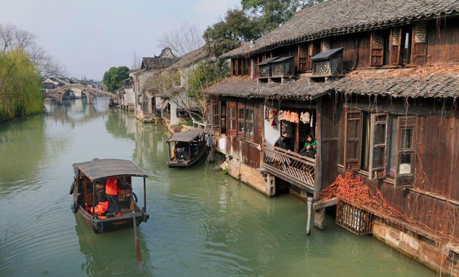 Hiver à Wuzhen, Zhejiang, Chine