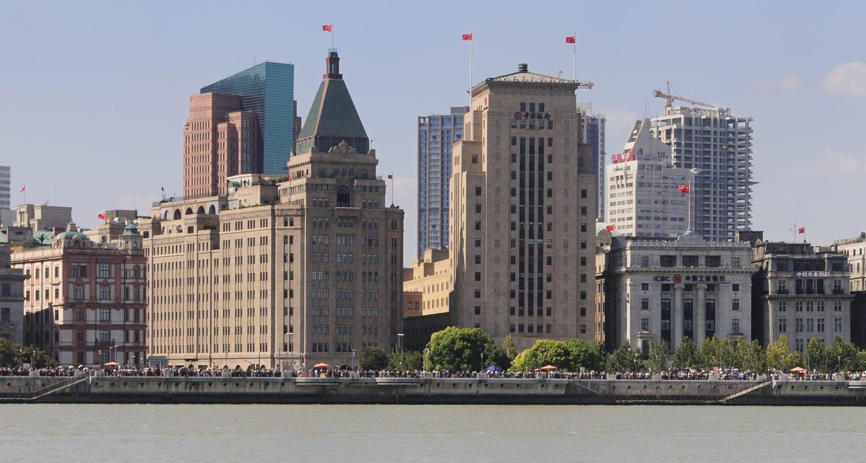 Le Bund, vu depuis Pudong, Shanghai