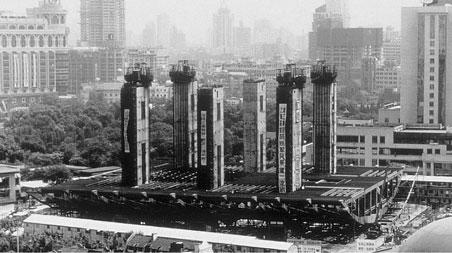 L'Opéra de Shanghai dessiné par Jean-Marie Charpentier, en construction