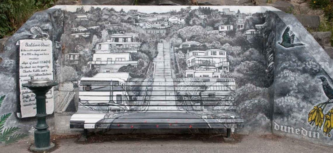 Dunedin, Otago, Nouvelle-Zélande : Baldwin Street
