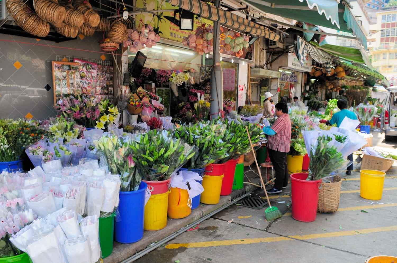 Marché aux fleurs et aux oiseaux, Hong-Kong