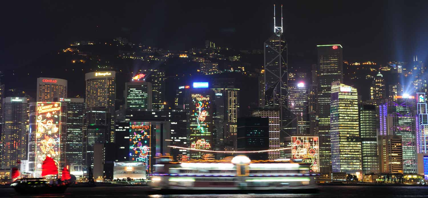 Avenue of Stars, Kowloon, vue sur Hong-Kong