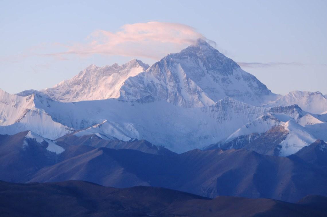 Col de Pang La, Tibet : Vue sur l'Everest
