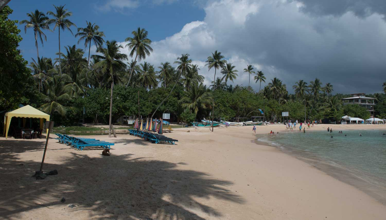 Plage d'Unawatuna, Sri Lanka