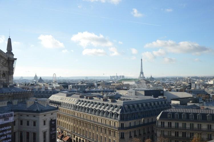 Vue de la terrasse des Galeries Lafayette