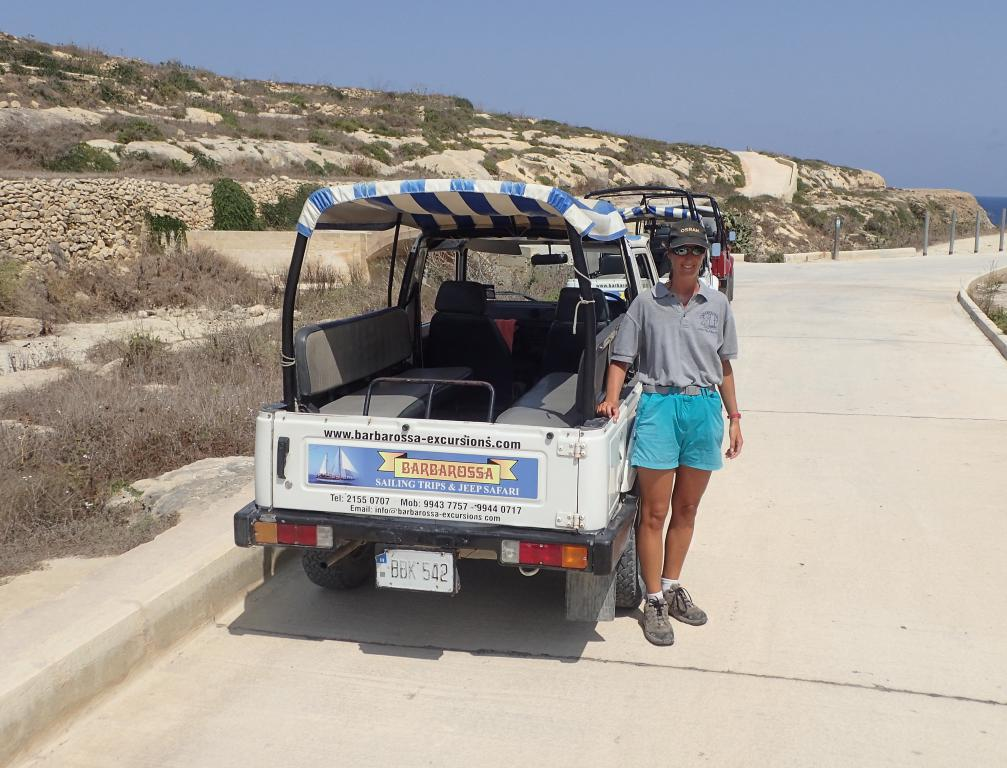 Gozo chauffeur-guide travailler en voyageant