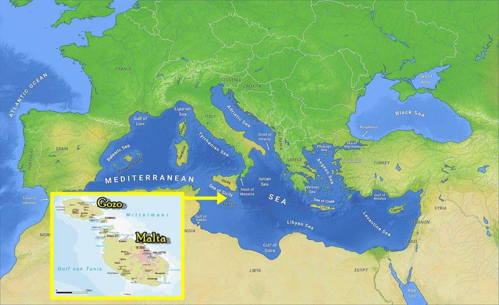 Gozo situation géographique