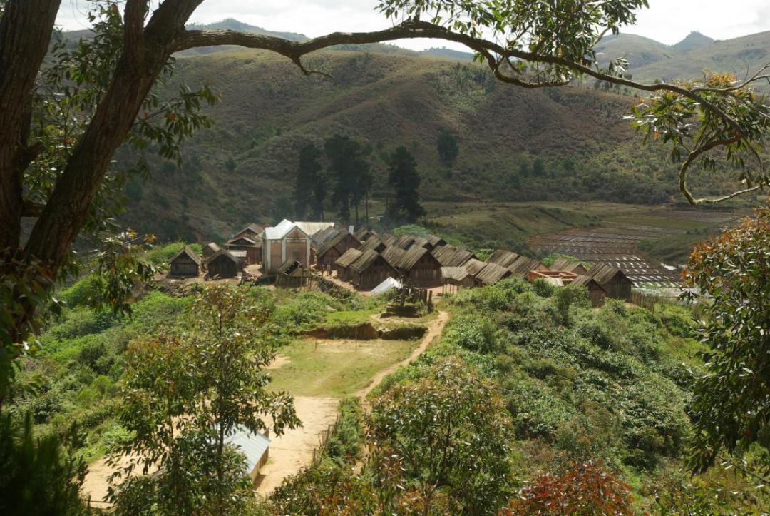 petit village sur l'île de Madagascar
