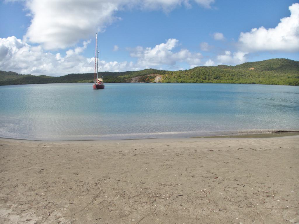 la baie du Trésor en Martinique dans les caraibes