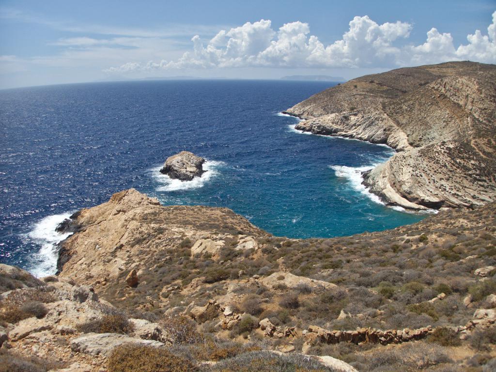 randonnée sur les sentiers de l'île de Folegrandros