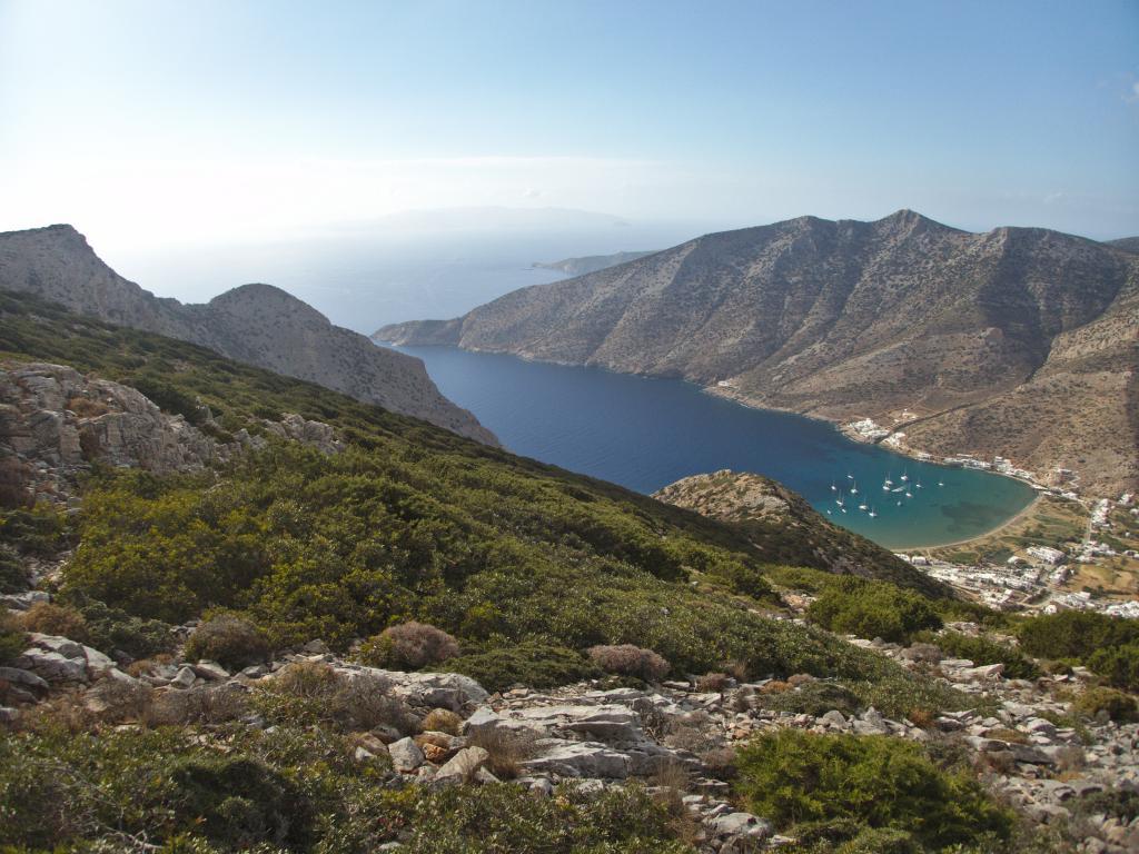 sur les sentiers de randonnée à Sifnos