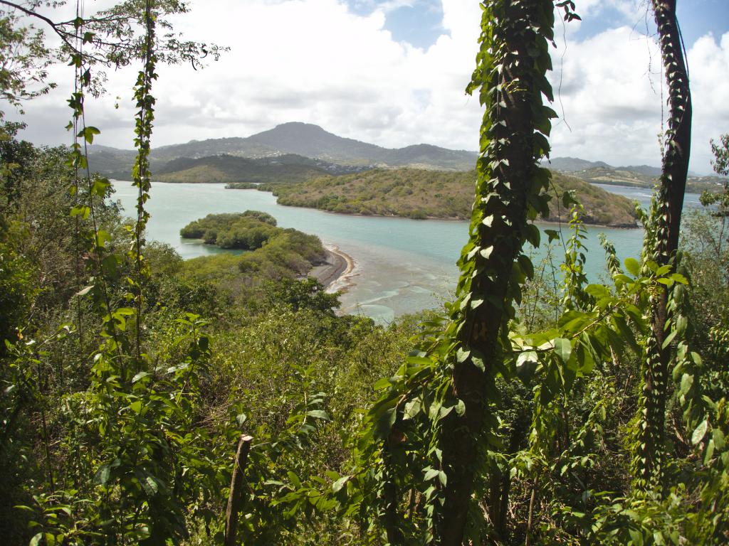 Vue depuis la boucle du Vauclin en Martinique dans les Caraïbes