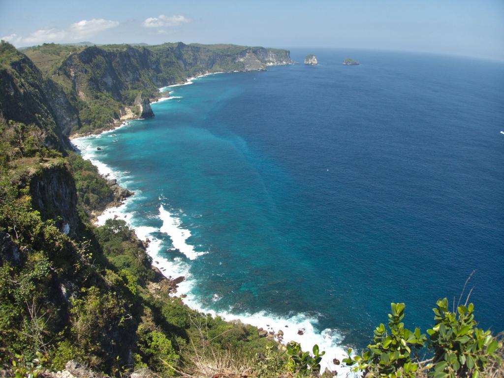 les falaises de nusa pénida en indonésie