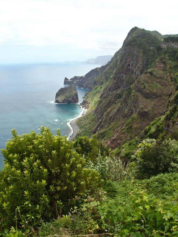 les falaises de santana sur l'île de Madère