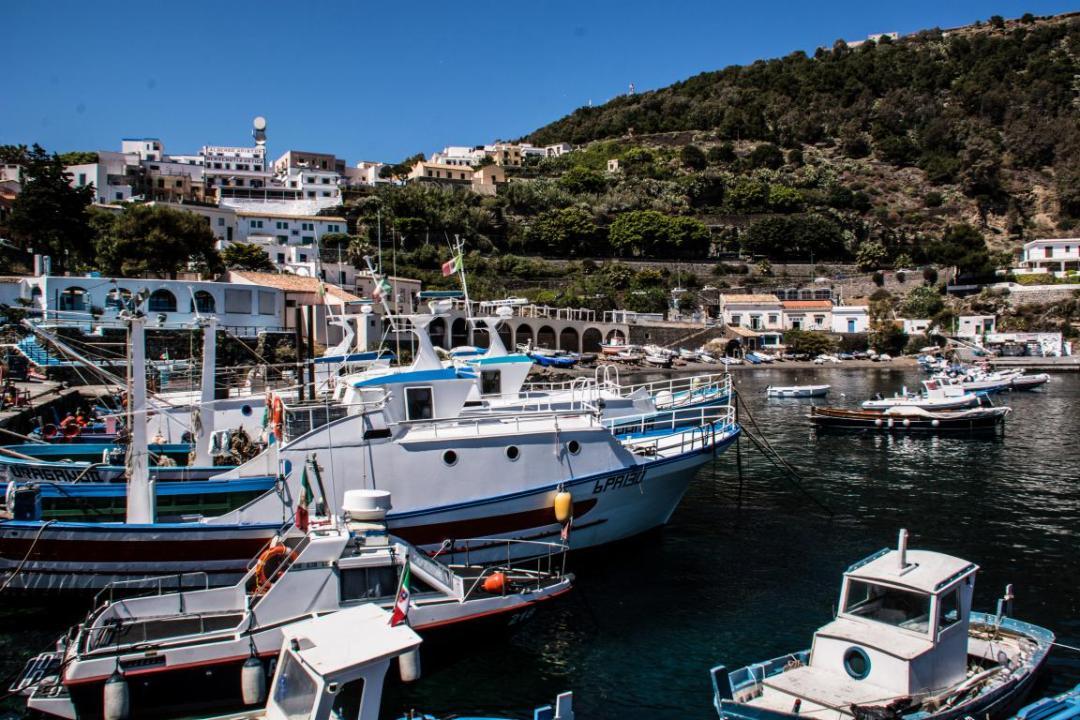 le port de l'ile méditerranéenne d'ustica