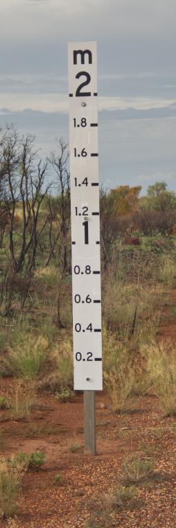 conduire en australie surveiller les jauges de profondeur d'eau