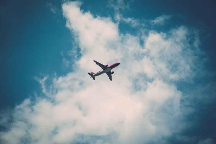 flight sky clouds aircraft