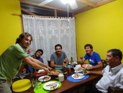 Paella con Nacho, su padre, su primo Tambe, y Emilio,