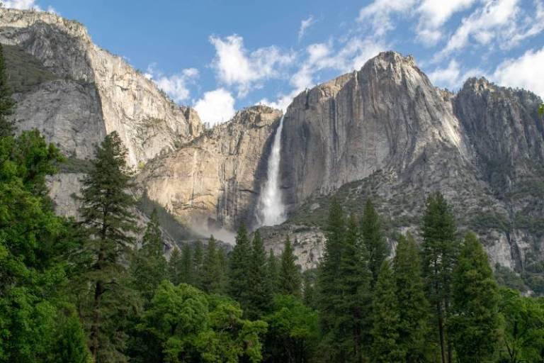Upper Yosemite Falls in daytime
