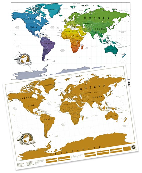 Carte A Gratter Du Monde : carte, gratter, monde, Carte-du-monde-a-gratter-4, Voyageur, Attitude