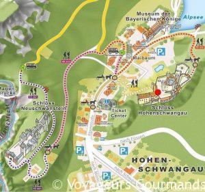 carte-Schwangau-chateau-Neuschwanstein-Hohenschwangau