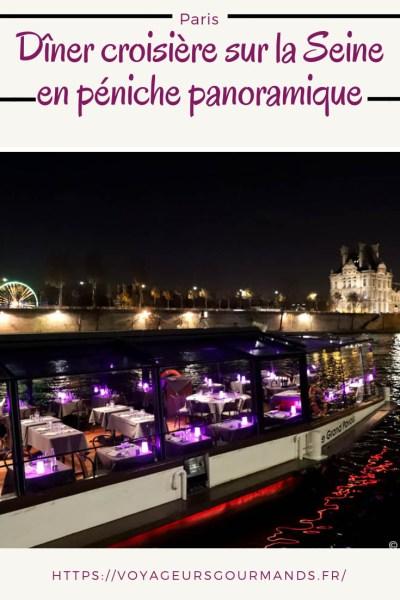 Dîner croisière sur la Seine en péniche panoramique