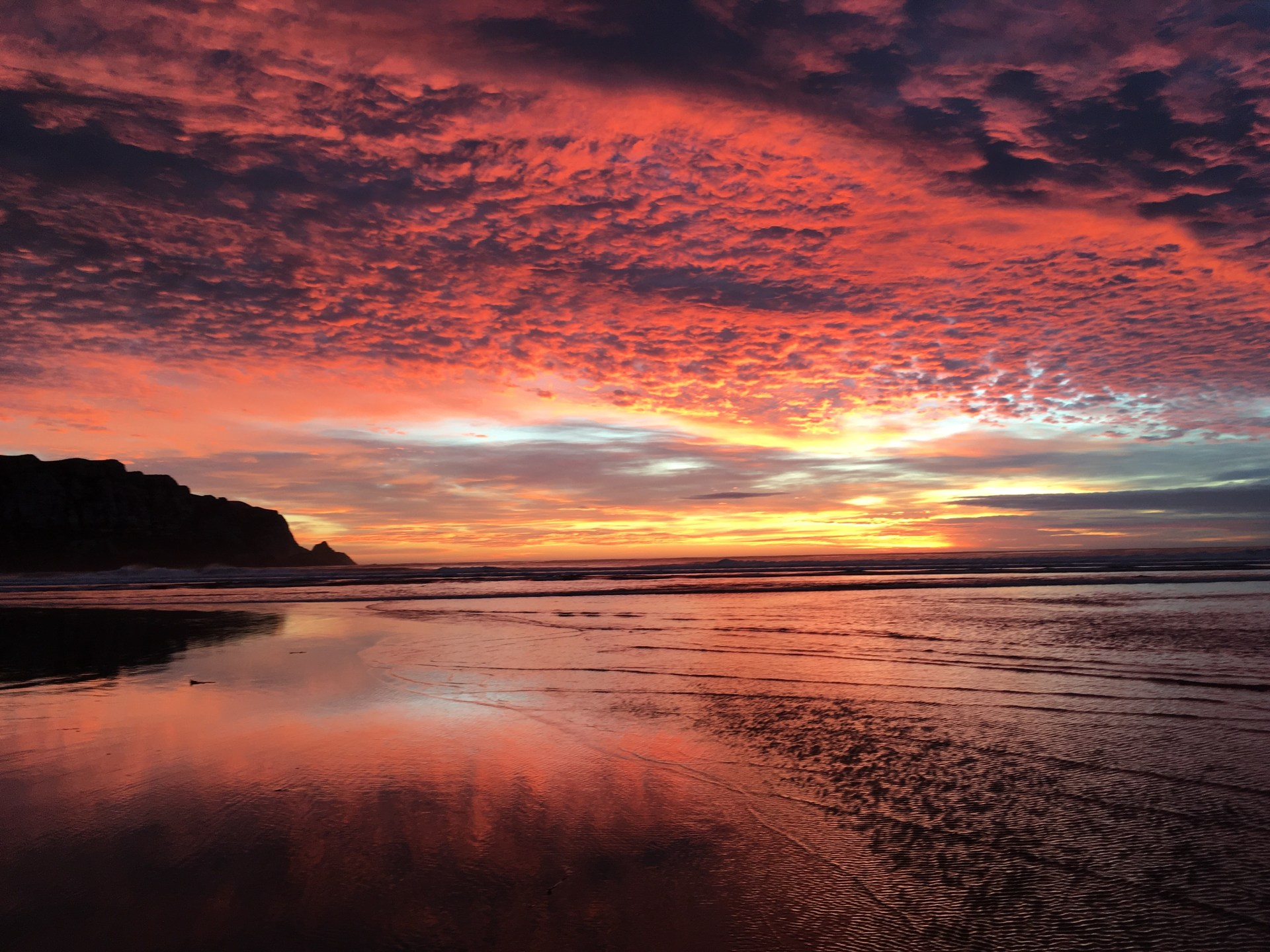 A most spectacular New Zealand sunrise at The Catlins