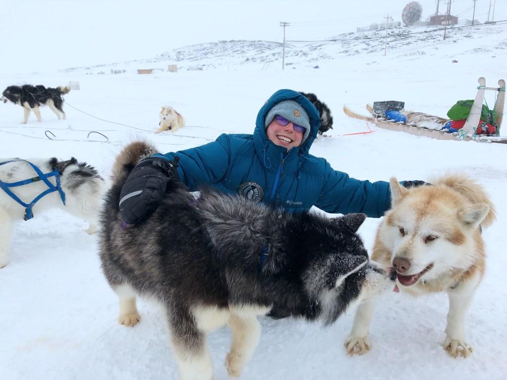 dog sledding in iqaluit, nunavut