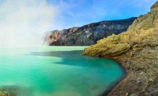 Lac acide du Kawa Ijen, Java, Indonésie