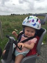 Bike hike with baby, February 2016, Hauraki Rail Trail, Thames Paeroa Waihi, New Zealand
