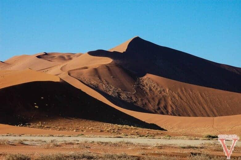 Belles vues sur les dunes du désert du Namib