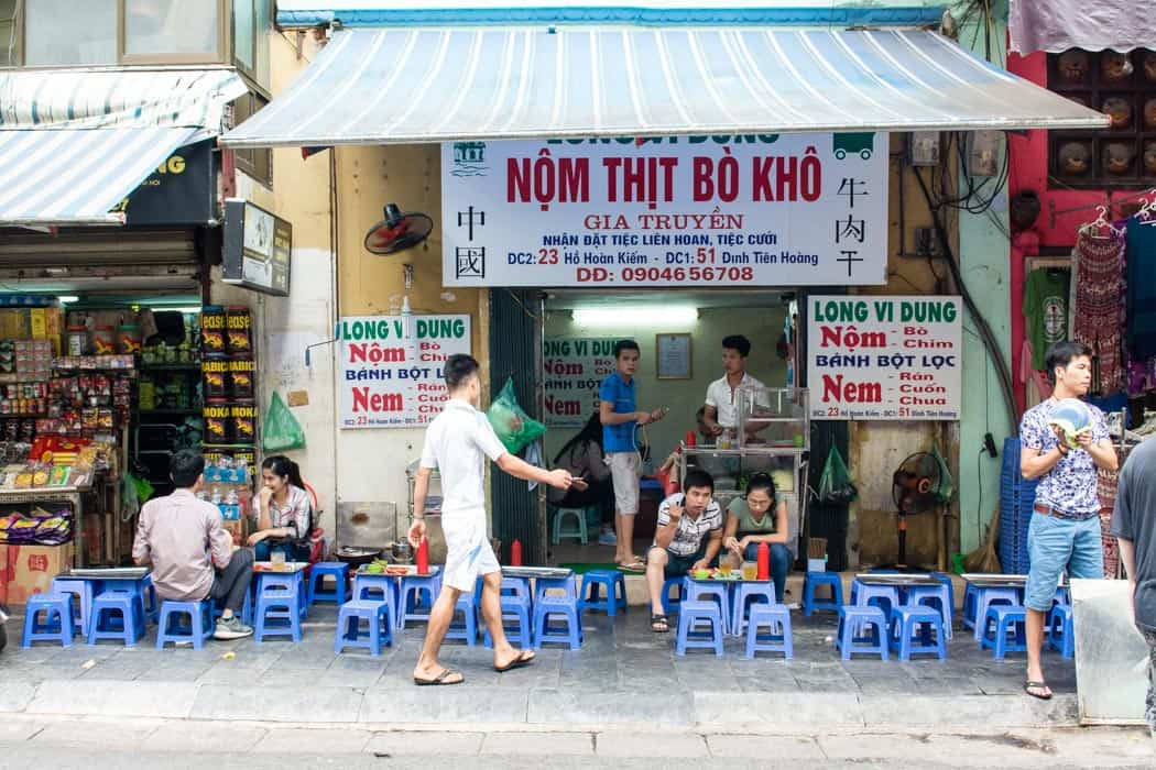 hanoi street food Included: english speaking guide, all street food items as itinerary, 1 bottle of water, 1 coffee or beer.
