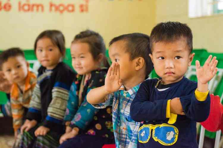 A l'école dans la vallée de Mu Cang Chai