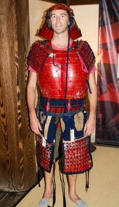 Et le kiwi en tenue de samourai qui pèse une tonne .... le clou de la visite...