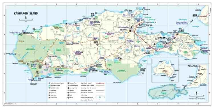 carte Kangaroo Island