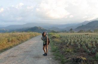 En el camino a Kadagaya con Kinza