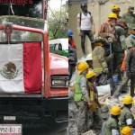 Roban tráiler cargado con toneladas de víveres que llevaba a damnificados de Puebla