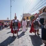 Saldo blanco en representación del viacrucis en el Marqués