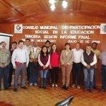 Sesiona Consejo Municipal de Participación Social en la Educación en Pinal de Amoles