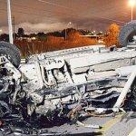 Choca y destruye su camioneta en Monclova