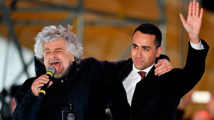 Beppe Grillo y Luigi Di Maio