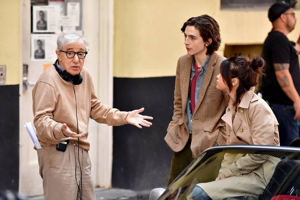 Woody Allen durante el rodaje de