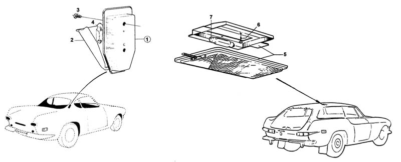 Volvo / Volvo 1800 / Electrical components / Interior light